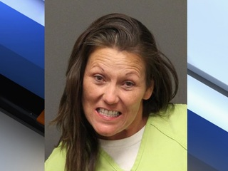 Woman arrested for spray painting truck