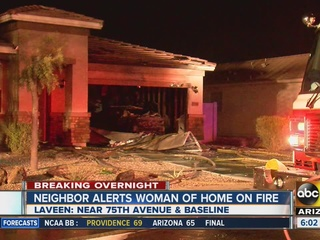 Laveen neighbor wakes woman in burning home