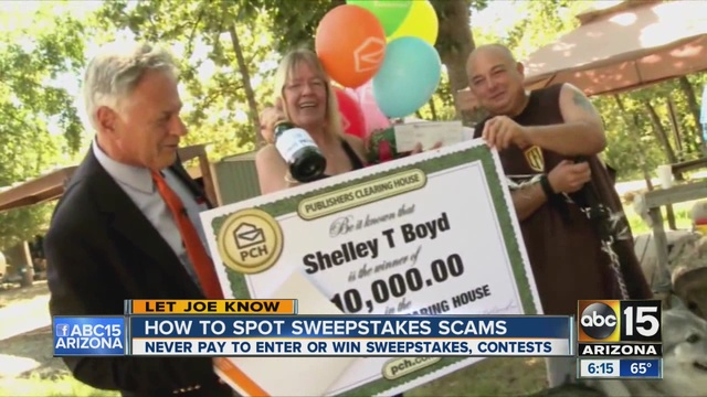 Joe Ducey says to never pay to enter or win sweepstakes and contests