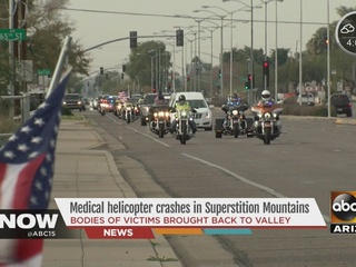 Helicopter crash victims honored in procession