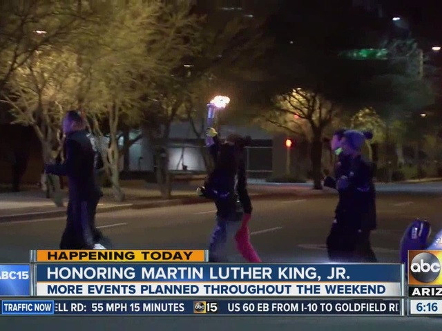 Students run torch for Martin Luther King, Jr