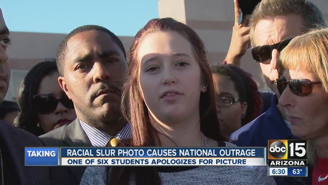 Protest outside Phoenix-area school after racial slur photo