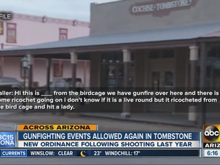 Tombstone gunfight skits resume after gun mishap