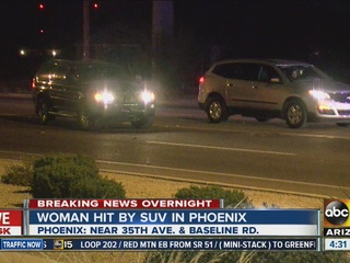 PD: Woman hit by vehicle in south Phoenix