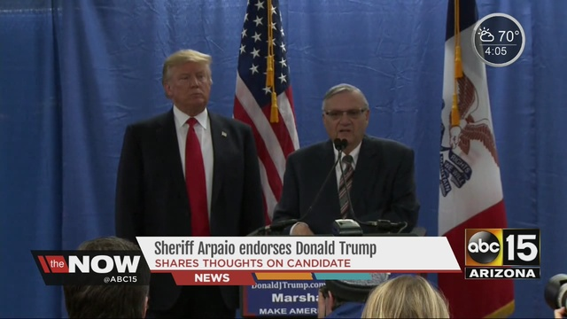 Image result for arpaio and trump