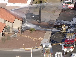 Chandler FD: Fire in garage extends into home