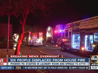 FD: Family of six displaced after PHX fire