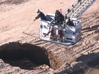 Crews search for body inside Queen Creek trench