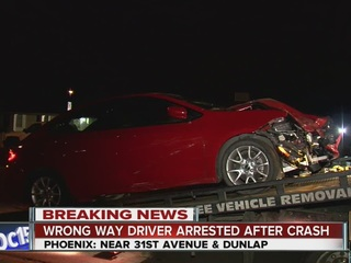 Driver flees from head-on, wrong-way I-17 crash
