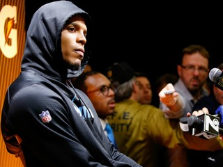 WATCH: Newton walks out of interview after loss