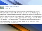 PD: Central Arizona College campus on lockdown
