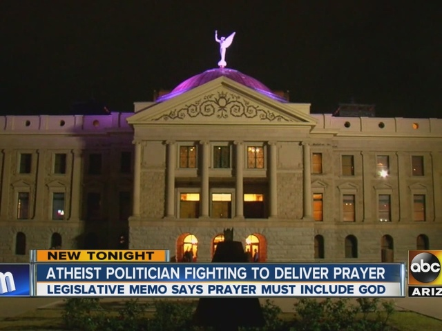 Atheist  politician fighting to deliver prayer