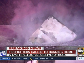 FD: Vacant home a total loss after Phoenix fire