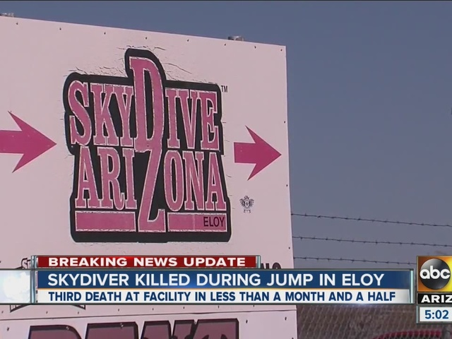 Skydiver killed during jump in Eloy