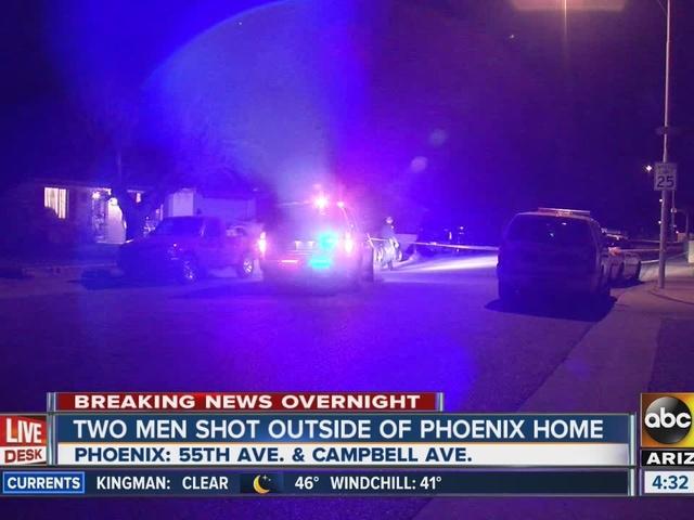 Two men shot outside Phoenix home