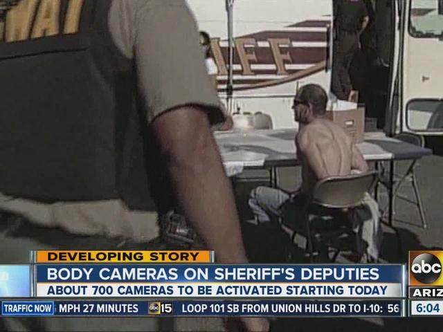 Body cameras on MCSO deputies