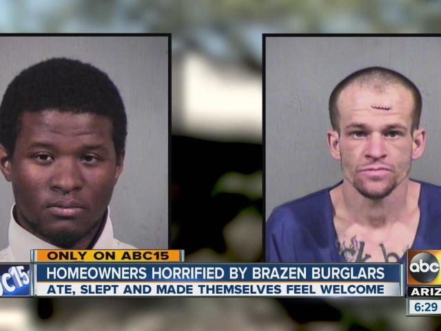Homeowners horrified by brazen burglars