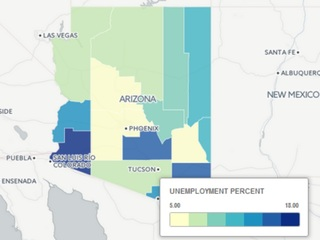 MAP: AZ unemployment rate by county