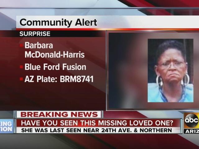 Police searching for Barbara McDonald Harris