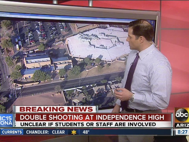 Police on scene of shooting at Independence High School