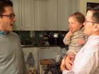 Baby befuddled by sight of dad's twin