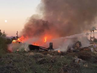 2 trailers go up in flames in Mesa
