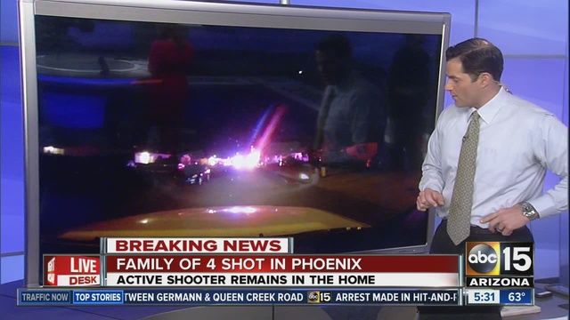 Phoenix shooting, fire leaves 5 dead; police dodge bullets