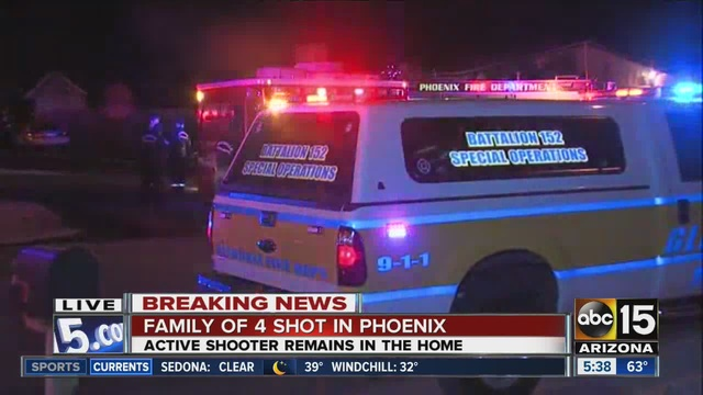 Phoenix shooting, fire leaves 5 dead; police dodge bullets