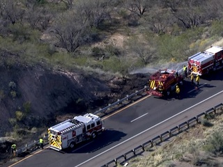 ADOT: Brush fire reported near I-17 & New River