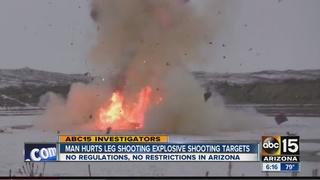 VIDEO: Man loses leg using explosive targets