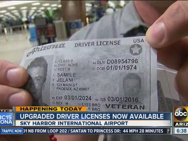 az drivers license for travel