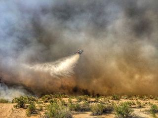 PHOTOS: Fire burning near Lake Havasu