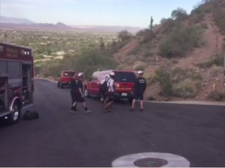 PHX FD responds to two mountain rescues Saturday