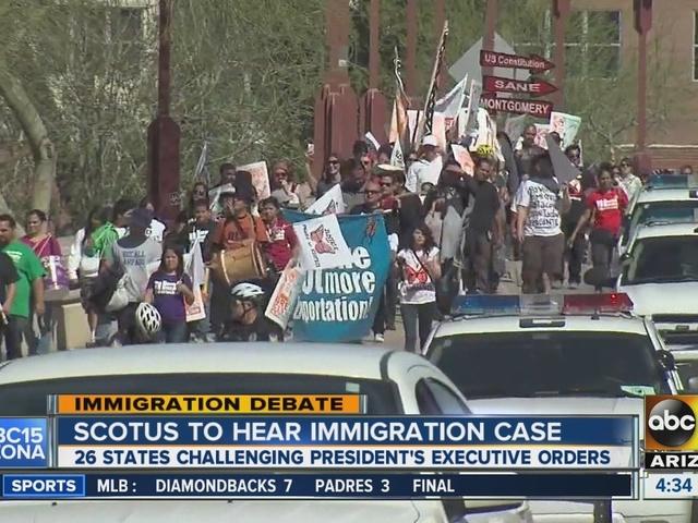 AZ group holds vigil before immigration hearing