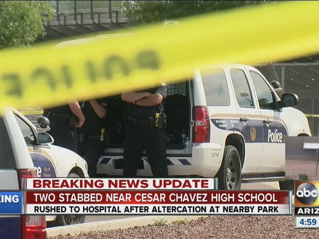 Two stabbed near Cesar Chavez High School