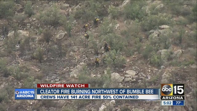 Cleator Fire 141acre wildfire burning near Crown King  ABC15