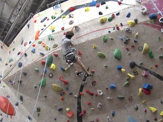 Score! 50% off indoor climbing gym