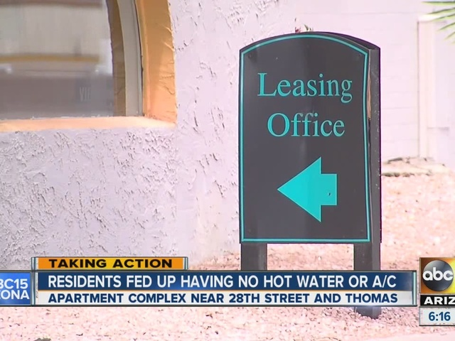 Phoenix residents fed up with having no water or A/C