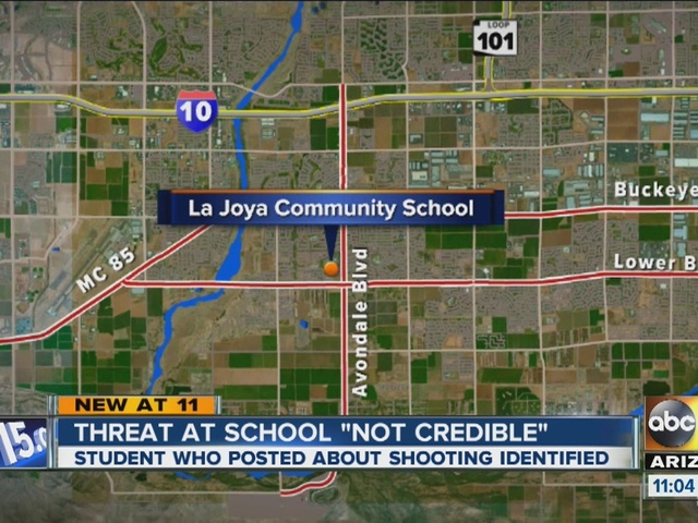 Avondale police: shooting threat against La Joya Community High not credible