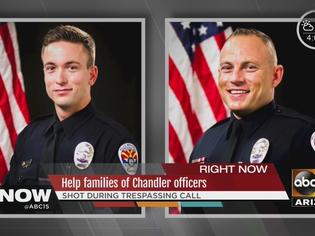 Donation accounts set up for injured Chandler officers
