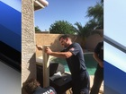Firefighters fix pool fence after near drowning