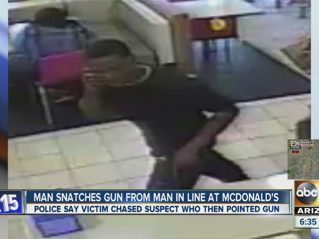 Phoenix PD looking for man who stole gun from McDonald's cutsomer