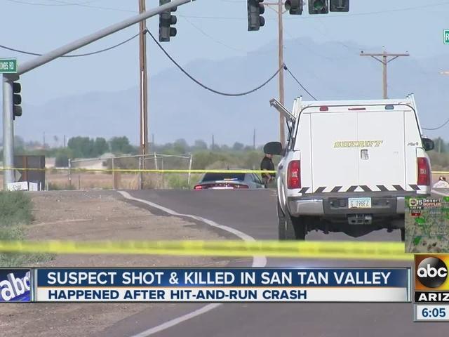 Pinal County deputies shoot, kill suspected hit-and-run driver