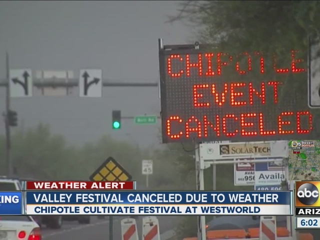 Weather cancels Chipotle Cultivate Festival