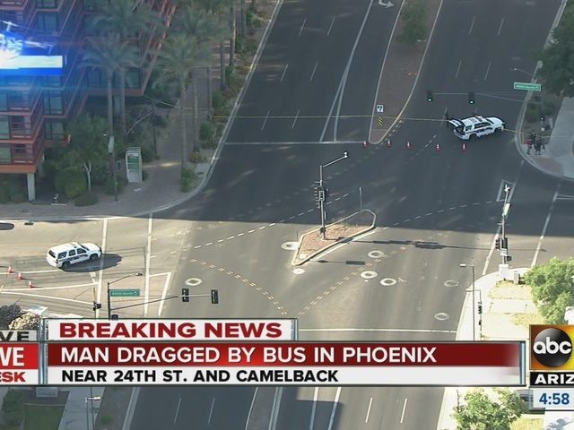 Man dragged by bus in Phoenix