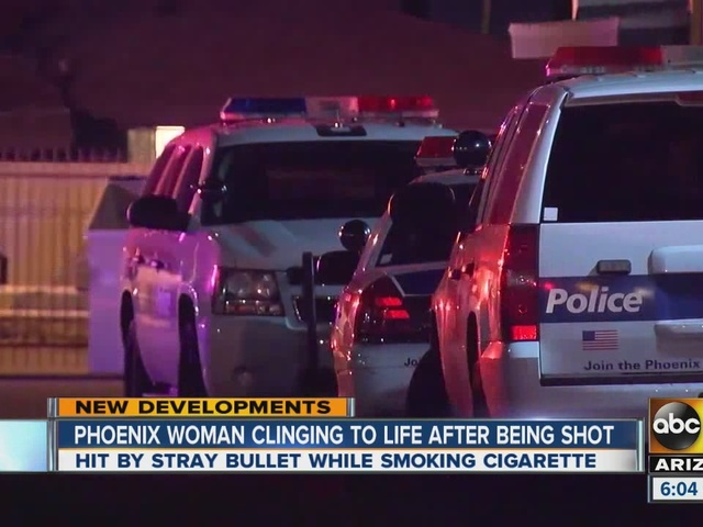 Phoenix woman clinging to life after being shot