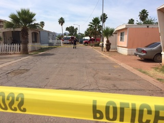Two critical after Avondale mobile home fire