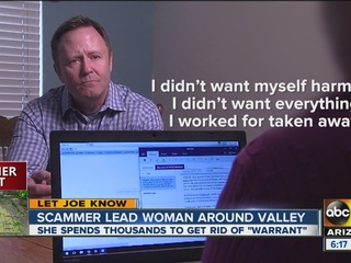 Scammer leads Valley woman on