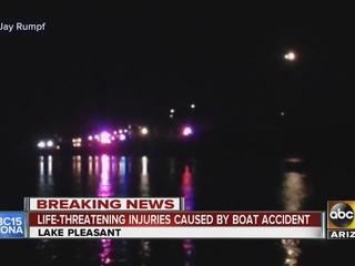 FD: Man hurt putting boat in at Lake Pleasant