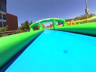 360 VIDEO: Ride down a giant water slide